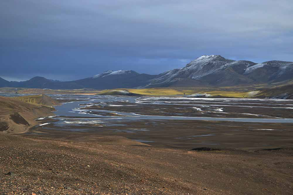 On the way to Landmannalaugar