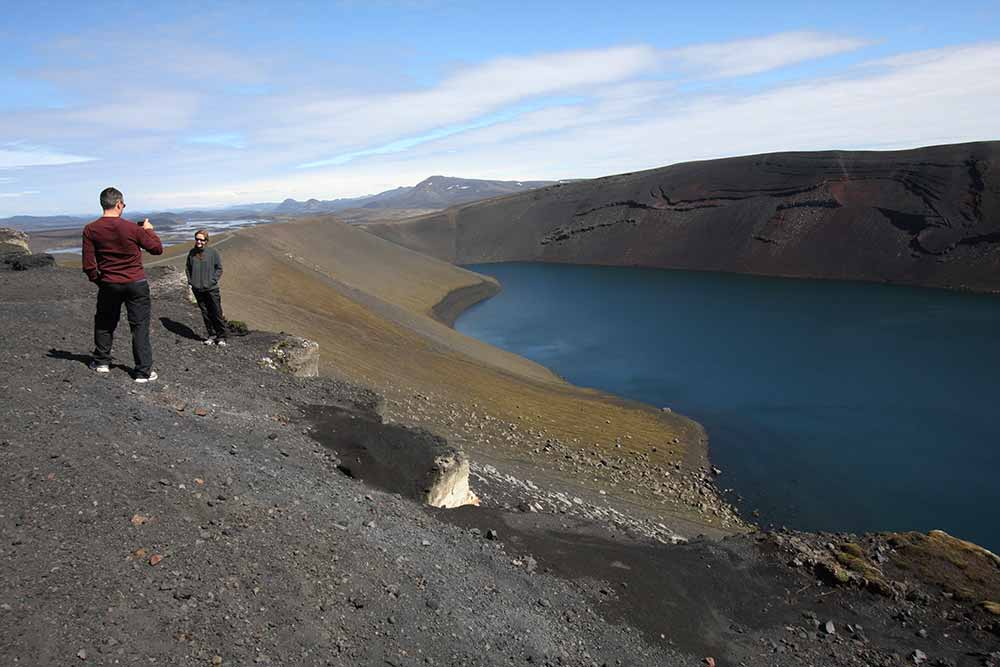 Ljótipollur eruption crater (Ugly pool)