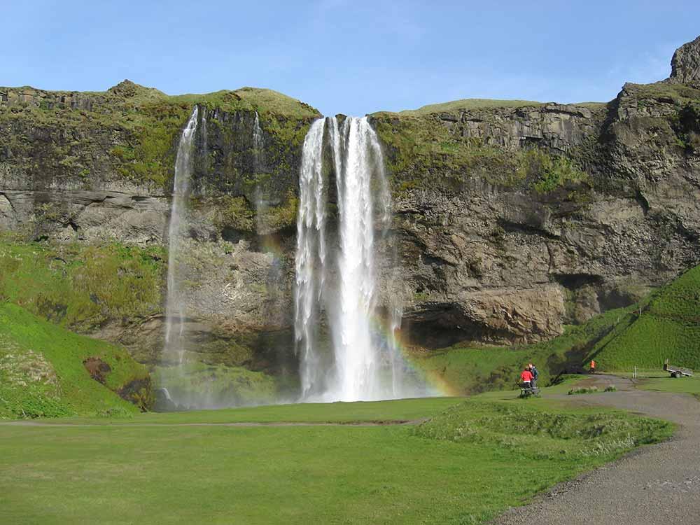The waterfall Selfjalandsfoss