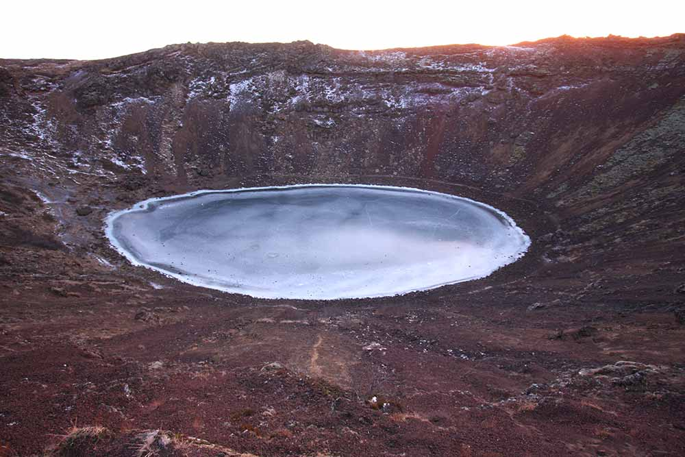 Kerið, eruption crater