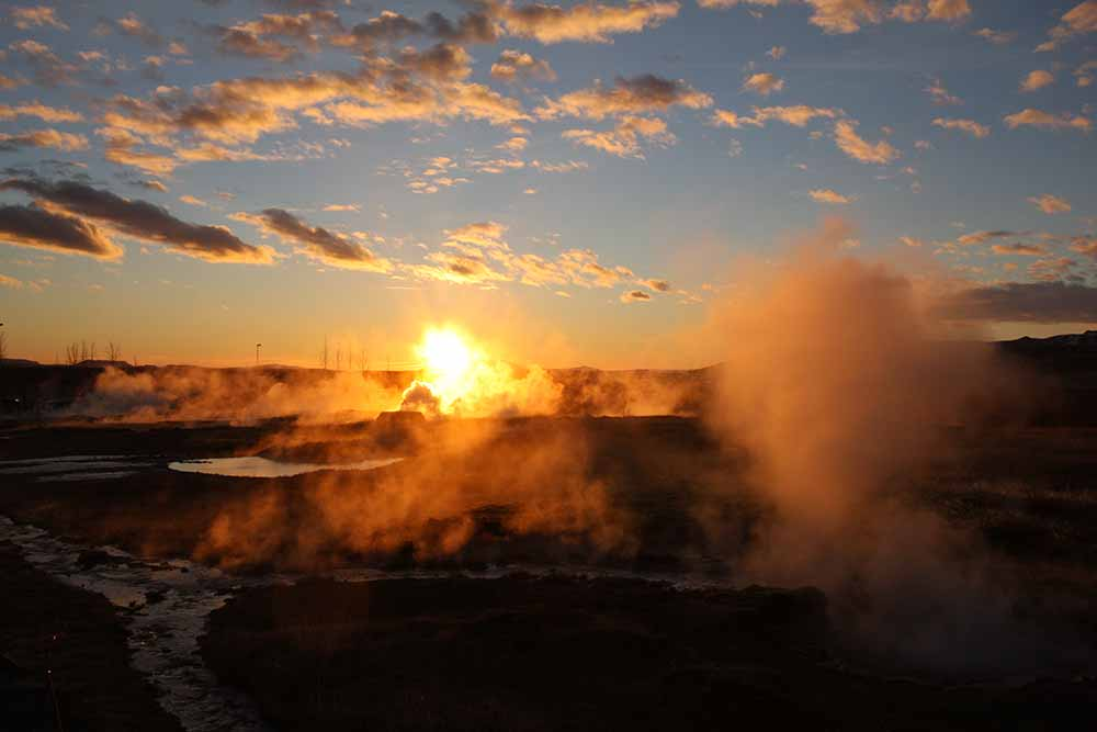 The hot springs at Geysir