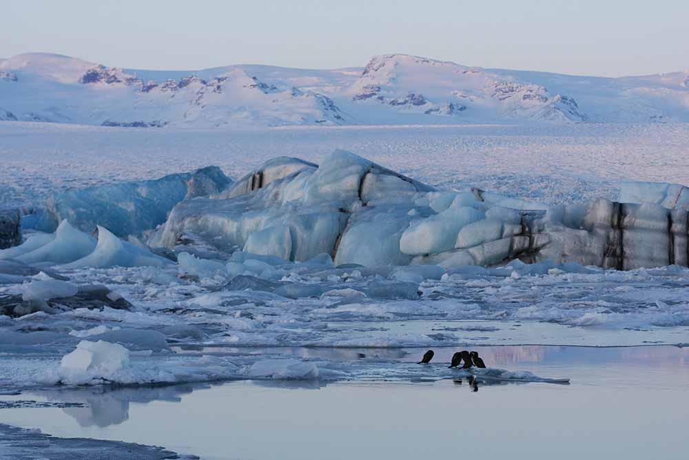 The lagoon Jokulsárlon