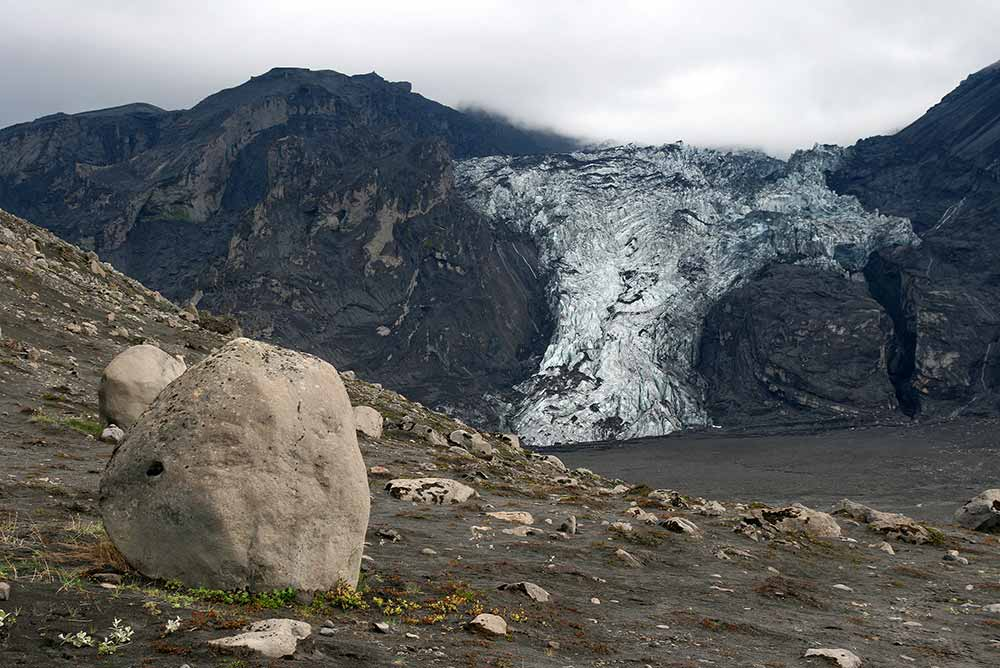Gígjökull glacier after eruption