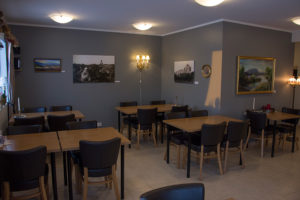 The breakfast and dining area