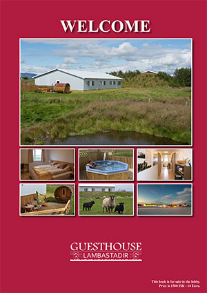 Guesthouse Lambastadir welcome book